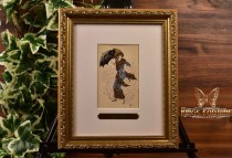 Louis Icart (Helli) 1911 'Falling Leaves' Postcard and Framed COA