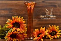 Imperial Glass 1909-1930 Marigold Bullseye and Rib Carnival Vase