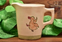 Vintage Japan Pottery 1920's Zona Child's Milk Pitcher with Dancing Duck