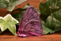 Lalique Crystal 1960's Amethyst Embossed Enamel Butterfly