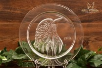 Lalique Crystal 1973 Jayling Petit Geai Annual Plate