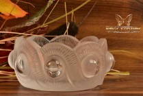 Lalique Crystal 1980's Gao Cendrier Bowl #330