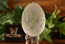Lalique Crystal 1980 Lady Bug Egg Paperweight with Box
