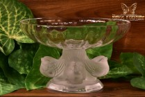 Lalique Crystal After 1978 Nogent Footed Compote