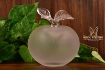 Lalique Crystal 1980s Grand Pomme Apple Perfume Bottle