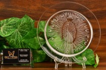 "Lalique Crystal 1970 Poan ""Peacock"" Annual Plate"
