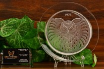 "Lalique Crystal 1971 Hibou ""Owl"" Annual Plate"