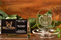 Lalique Crystal pre-1978 Bicentennial Eagle Pin Dish
