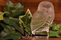 Lalique Crystal pre-1978 Chouette Owl Figurine Stamp Paperweight