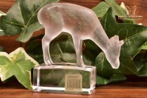 Lalique Crystal 1960's Diam Deer Crystal Figure