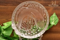 Lalique Crystal Vintage pre-1978 Koi Concarneu Cigar Tray Ashtray