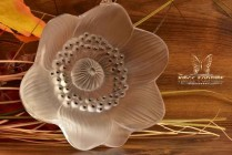 Lalique Crystal pre-1978 Anemone Ouverte Table Ornament Paperweight