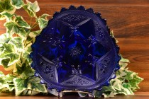 LG Wright 1930's Sapphire Tri Fold Daisy and Bows Bridal Plate