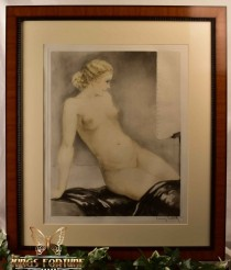 Louis Icart 1933 Aquatint Etching My Model Framed