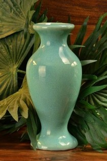 1930's Muncie Gloss Green Vase 100-6 #