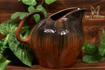 Muncie Pottery 1929 Black Peachskin Large Ice Tea Pitcher #467-8
