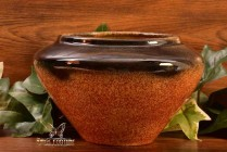 Muncie Pottery 1929 Black Peachskin Triangle Bowl #403-4
