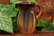 Muncie Pottery 1929 Blue Peachskin Pitcher #428-6