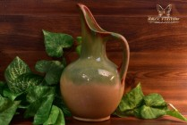 Muncie Pottery 1929 Green Peachskin Large Pitcher #136-12