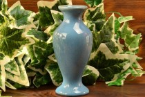 Muncie Pottery Gloss Blue Flared Vase (Shape 100-6) I-3, 1930's
