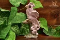 Overbeck Pottery 1911-55 Pink Cockatoo Paperweight