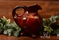 Owens Pottery 1905 Red Utopian Ewer Pitcher #921 Signed