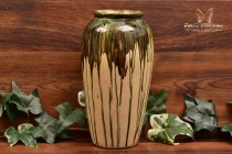 Peters and Reed Pottery 1920s Brown Shadow Ware Vase #752