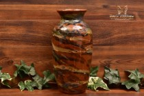 Peters and Reed Pottery 1920s Marbelized Large Jar Vase #48