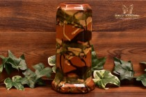 Peters and Reed Pottery 1920s Marbelized Column Vase #56