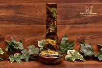 Peters and Reed Pottery 1920s Marbelized Column Squat Vase #49