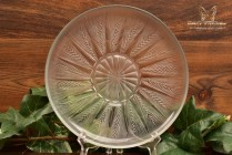 R Lalique 1930-50 Epis Crystal Plate No 4