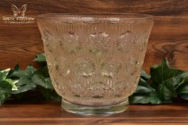 R Lalique 1937 Brown Rust Patina Edelweiss Crystal Vase