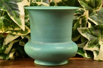 Rookwood Pottery 1937 Green Flared Rim Vase #6687F