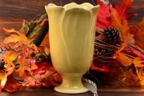 Rookwood Pottery 1948 Gloss Yellow Floral Vase #6969