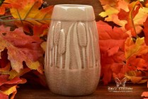Rookwood Pottery 1948 Madder Wine Cattails Vase #2592 ATC