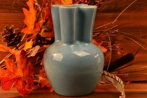 Rookwood Pottery 1949 Gloss Light Blue Pinch MCM Vase #6953