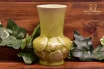 Rookwood Pottery 1953 Chartreuse Wild Flowers Vase #6363