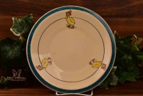 Roseville Pottery 1916 Juvenile Ducky Baby Flat Plate No 7