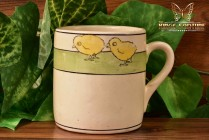 Roseville Pottery 1910-20 Juvenile Child's Chick Mug No 1