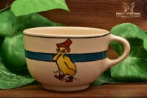 Roseville Pottery 1910-20 Juvenile II Child's Duck in Rain Hat Boots Tea Cup #8