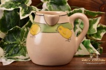 Roseville Pottery 1910-20 Juvenile Child's Chick Bulbous Milk Pitcher #7