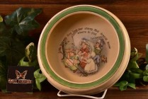 Roseville Pottery 1912 Nursery Rhyme Bo Peep Rimmed Low Bowl