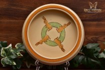 Roseville Pottery 1916 Juvenile Bunny Baby Round Edge Baby's Bowl