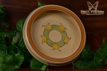 Roseville Pottery 1916 Juvenile Chicks Baby Rimmed Bowl Plate No 6-6