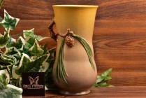 Roseville Pottery 1931 Trial Glaze Pine Cone Vase #841-7 Trial 18