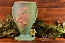 Roseville Pottery 1937 Green Ixia Vase # 854-7
