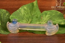 Sabino Art Glass Opalescent Crystal 1920's-1930's Duck Knife Rest