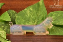 Sabino Art Glass Opalescent Crystal after 1930's Poodle Knife Rest