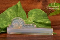 Sabino Art Glass Opalescent Crystal after 1930's Snail Knife Rest