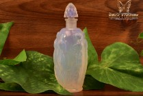 Sabino Art Glass Opalescent Crystal 1920-30 Gaite' Nude Nymph Perfume Scent Bottle (Small)